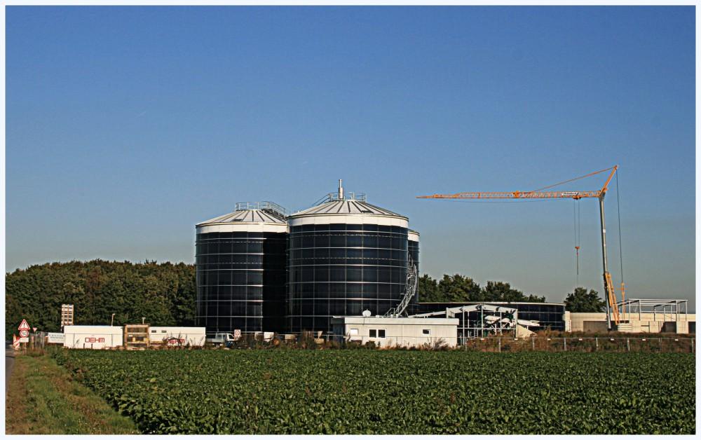 Biogasanlage Bergheim - Baustelle Oktober 2015